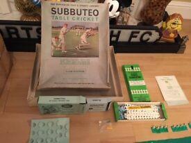 Subbuteo Cricket (Club Addition) + Extras (1970's)