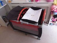 Graco Pack n Play Travel Cot 2 Level Music Vibration Light Carry Bag Play Pen