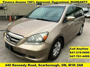 2006 Honda Odyssey EX FINANCE GUARANTEED 3 YEARS WARRANTY