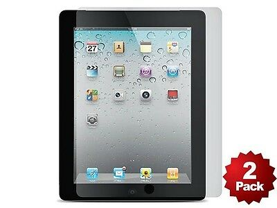 Screen Protector (2-Pack) w/ Cleaning Cloth for iPad® 2, iPad 3, iPad 4 - clear