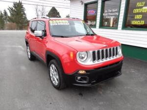 2017 Jeep Renegade Limited for only $246 bi-weekly all in!