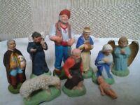 Vintage French Nativity Set