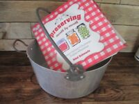 Vintage jam making preserving pan