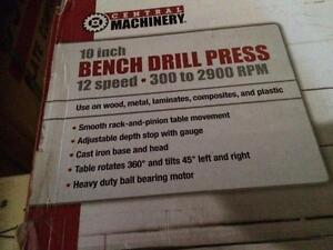HOC - 10 in. 12 SPEED BENCH DRILL PRESS + FREE SHIPPING + 30 DAY WARRANTY