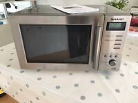 SHARP Microwave Oven, Stainless Steel, Very Good Condition
