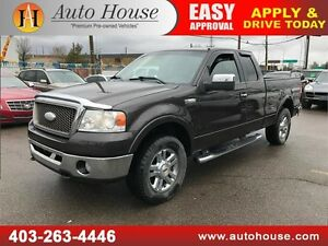 2006 FORD F150 LARIAT SUPERCAB 4X4 HEATED LEATHER