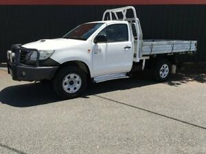 2012 Toyota Hilux KUN26R MY12 SR Glacier White 5 Speed Manual 2D Cab Chassis Moorabbin Kingston Area Preview