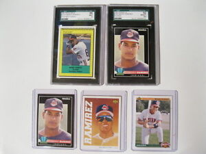 5 MANNY RAMIREZ CARDS WITH 2 GRADED London Ontario image 2