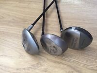Golf Clubs - 3 x Clubs including 2 x Driver & 3 wood
