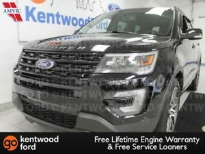 2017 Ford Explorer Sport 4WD ecoboost with NAV, sunroof, heated/