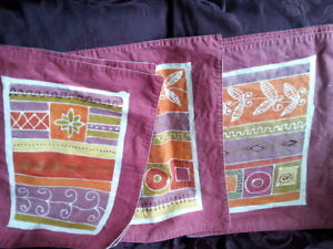 6 Red Placemats - Washable