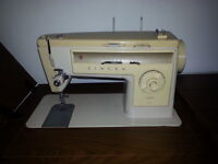 Singer Sewing Machine & Table / Cabinet - Good Quality