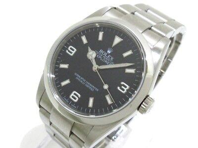 Auth ROLEX Explorer 1 114270 Silver Men's Wrist Watch M405042
