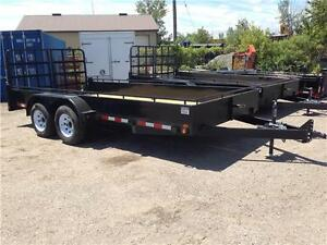 7x16 TANDEM AXLE STEEL SIDE UTILITY/LANDSCAPE - SPLIT RAMPS