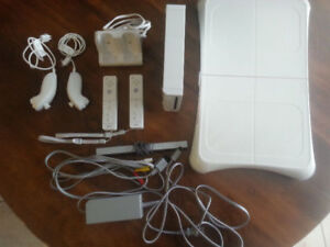Nintendo Wii plus Wii Fit and games