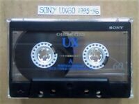 A2Z RARE SONY UX 60 MICROFINE UNIAXIAL CHROME GUARANTEED CASSETTE TAPES 1995-96 W/ CCL's & FREE P&P