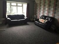 x2 Black Leather Sofas inc 2 seater and 3 seater FREE / COLLECTION ONLY