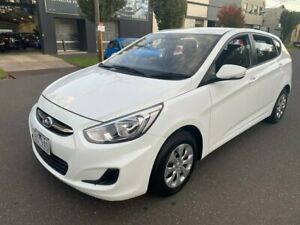 2016 Hyundai Accent RB4 MY16 Active White 6 Speed Constant Variable Hatchback South Melbourne Port Phillip Preview