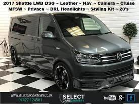 2017 VW Volkswagen Transporter Shuttle T6 LWB DSG 150bhp R Edition Plus Grey