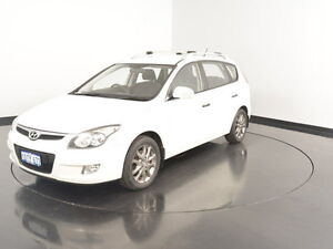 2010 Hyundai i30 FD MY11 Trophy cw Wagon White 4 Speed Automatic Wagon Welshpool Canning Area Preview