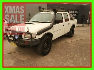 2002 Holden Rodeo TF MY02 LX Crew Cab White 5 Speed Manual Utility
