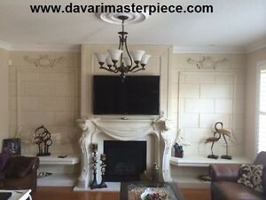 FIREPLACE UP TO 60% OFF-CAST STONE MANTEL