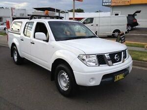 2012 Nissan Navara D40 MY12 RX (4x2) White 5 Speed Automatic Dual Cab Pick-up Sutherland Sutherland Area Preview