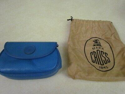 Mark Cross Pebbled Leather Crossbody Small Handbag: Blue - New w/Dust Bag