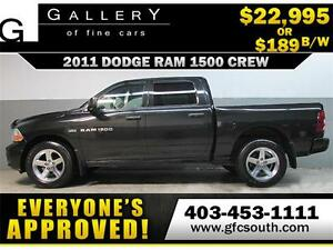 2011 DODGE RAM 1500 CREW *EVERYONE APPROVED* $0 DOWN $189/BW!
