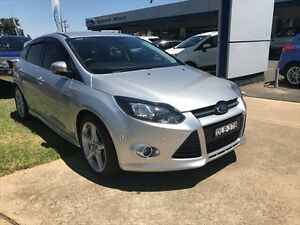 2014 Ford Focus LW MK2 MY14 Titanium Silver 6 Speed Automatic Hatchback Young Young Area Preview