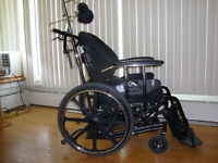 Tilt Wheel Chair fully equipped, 18 by 18