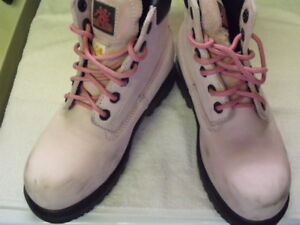 Moxie Pink Suede Steel Toed boots