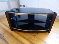 "Alphason Francium 80 TV Stand for up to 37"", John Lewis, Black/Walnut in as new condition"