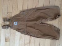 Adorable carhartt overalls size 18 months!