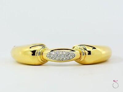 Vintage Tiffany Diamond Cuff Bracelet, 18k Yellow Gold, 0.70 Ct. G, VS from 1960