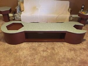 Custom made wrench coffee table and end tables