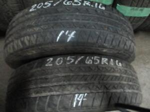 205/65R16 2 ONLY USED KELLY A/S TIRES
