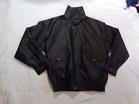 MEN'S BLACK FAUX LEATHER BOMBER JACKET.BRAND NEW.SOFT.LINED
