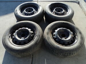 4 Motomaster Tires with Rims 225/60/16