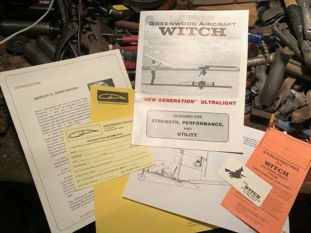 Vintage Greenwood Aircraft Witch Experimental Homebuilt Airplane Brochure