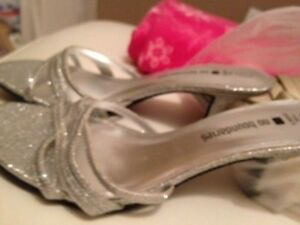 WOMENS GOLDEN AND SILVER PARTY WEAR BRAND NEW SANDALS BOTH $10
