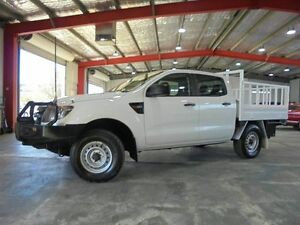 2012 Ford Ranger PX XL Double Cab White 6 Speed Manual Cab Chassis Welshpool Canning Area Preview