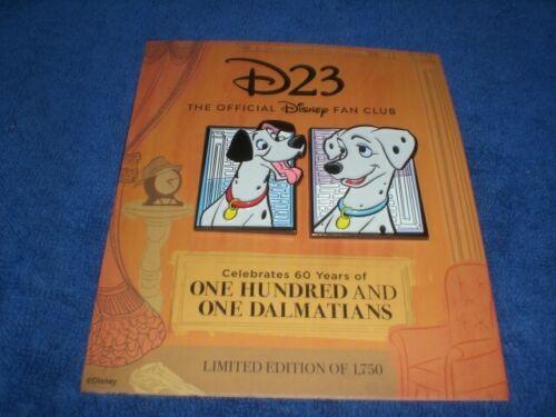 Disney 2021 D23 101 DALMATIANS 60th Anniversary PONGO & PERDITA  LE  Pin Set