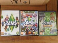 Sims 3 for PC with 2 expansion packs