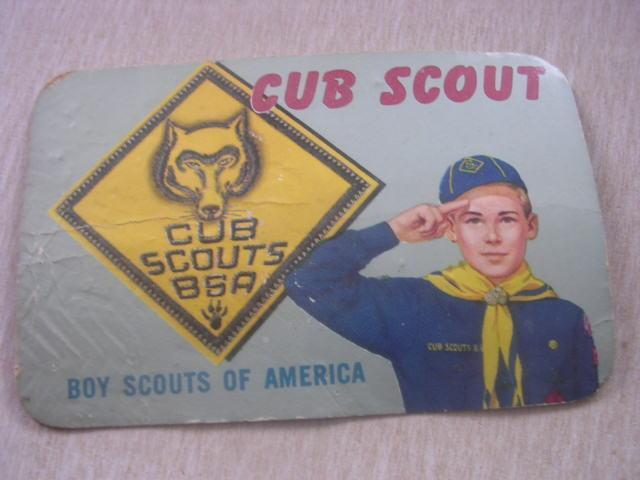 1963  Cub Scout Boy Scouts of America Membership Card Tom Welty Ashland Wis WI