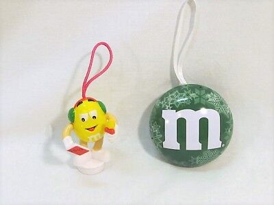 M&M's Tree Ornaments Christmas Holiday Lot of 2