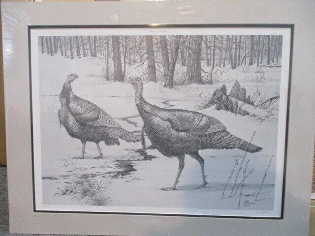 """Spring Seep-Wild Turkeys"" #122/300 1986 Bob Sopchick Print Only/"