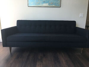 "Design Within Reach Modern Sofa 86"" Black, Mint cond"