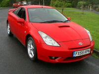 2006 TOYOTA CELICA 1.8 VVT-i 3 DOOR COUPE IN BRIGHT RED FULL TOYOTA SERV HISTORY