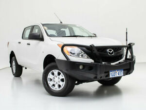 2014 Mazda BT-50 MY13 XT (4x4) White 6 Speed Manual Dual Cab Chassis